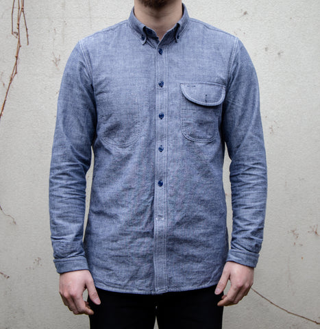 RGT-Jumper Shirt Long Sleeve // Blue Chambray