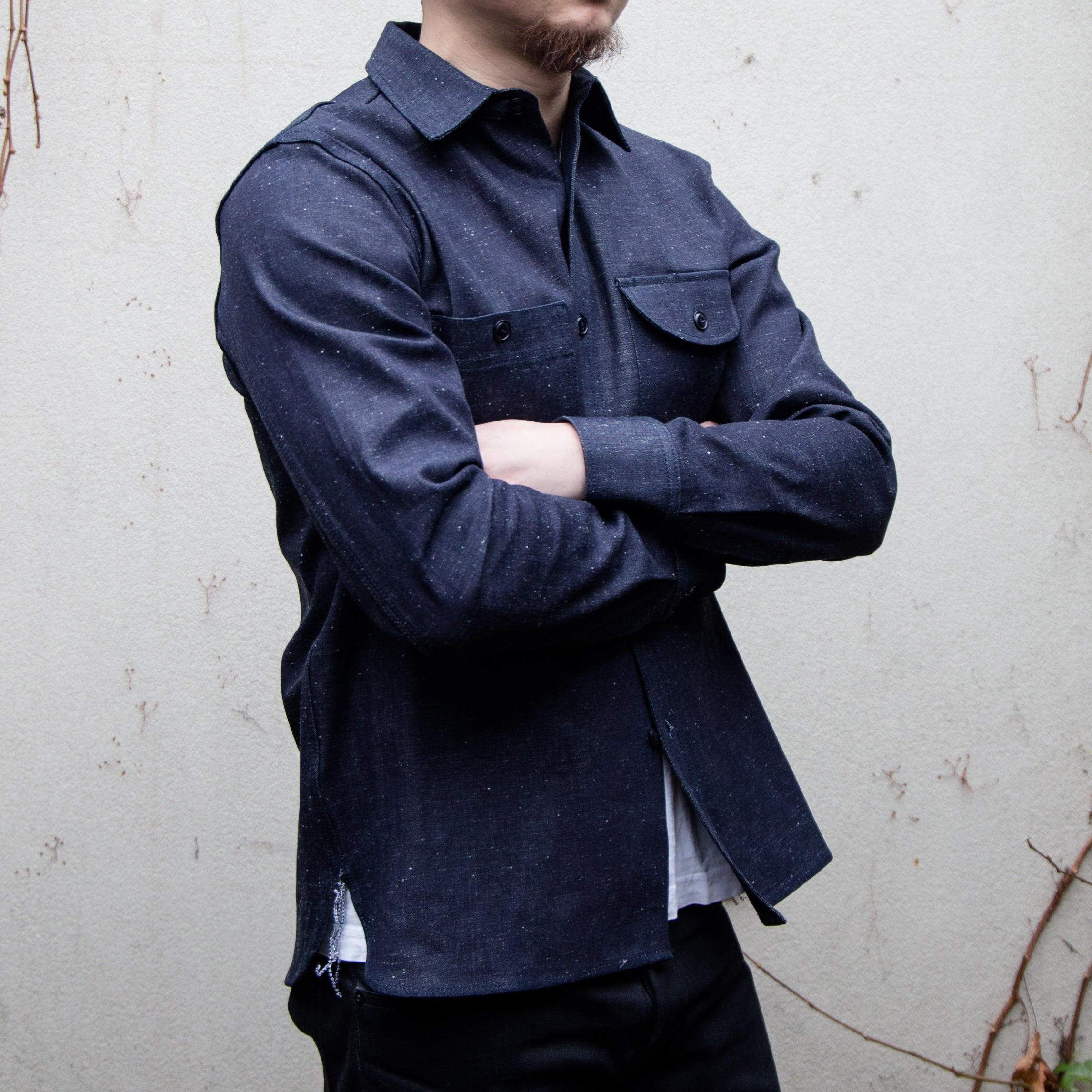 Load image into Gallery viewer, Rogue Territory -Work Shirt Neppy Selvedge Denim in Indigo