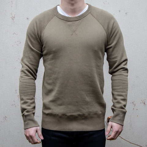 Velva Sheen - 10oz WV Sweatshirt in Khaki
