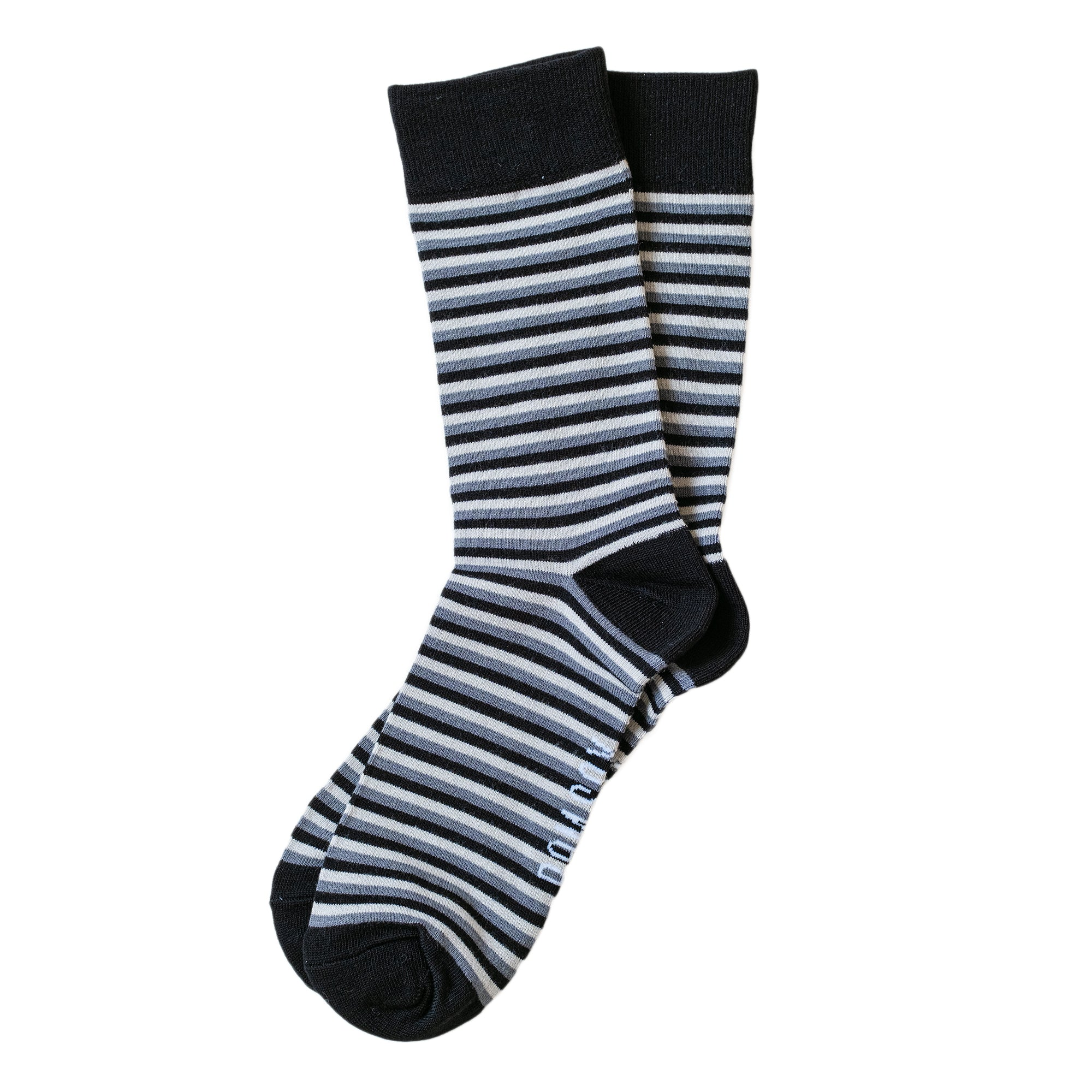 Load image into Gallery viewer, BAM SOX Thin stripe sock- Black