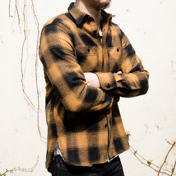 RGT-BM Work Shirt// Gold Plaid