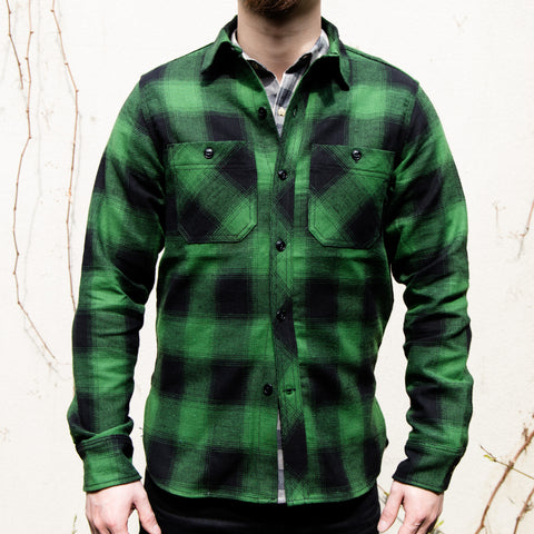 RGT-BM Work Shirt// Green Plaid