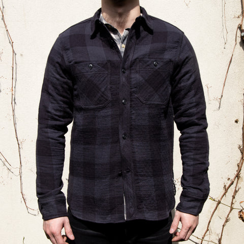 RGT-BM Work Shirt// Grey Quilted Plaid