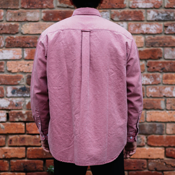FrizmWORKS - PIGMENT DYEING OVERSIZED SHIRT in Pink
