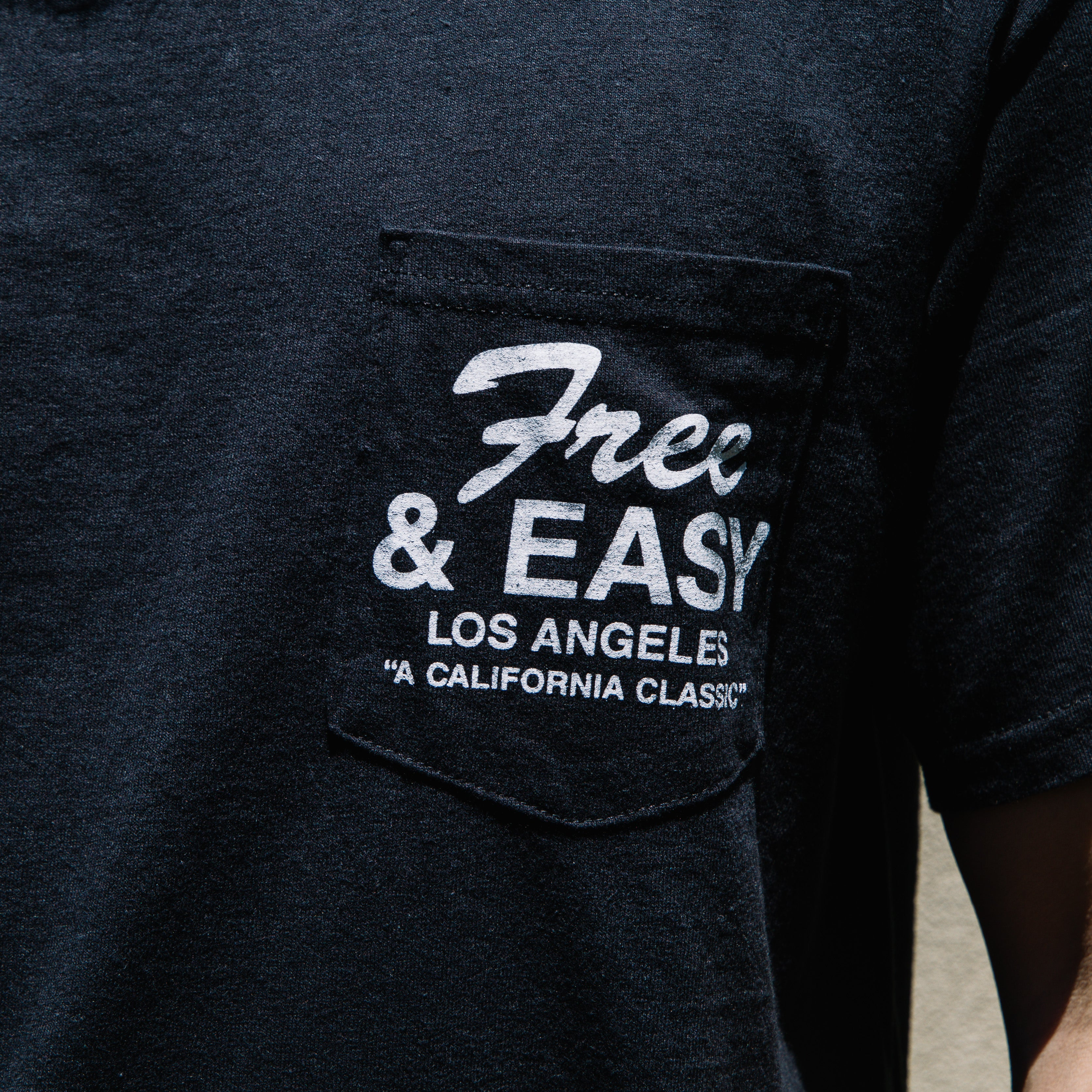 Load image into Gallery viewer, Free & Easy California SS Pocket Tee in Black