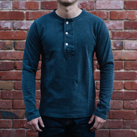 Freenote CLoth - Henley Long Sleeves in midnight