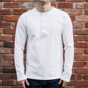 Freenote CLoth - Henley Long Sleeves in white
