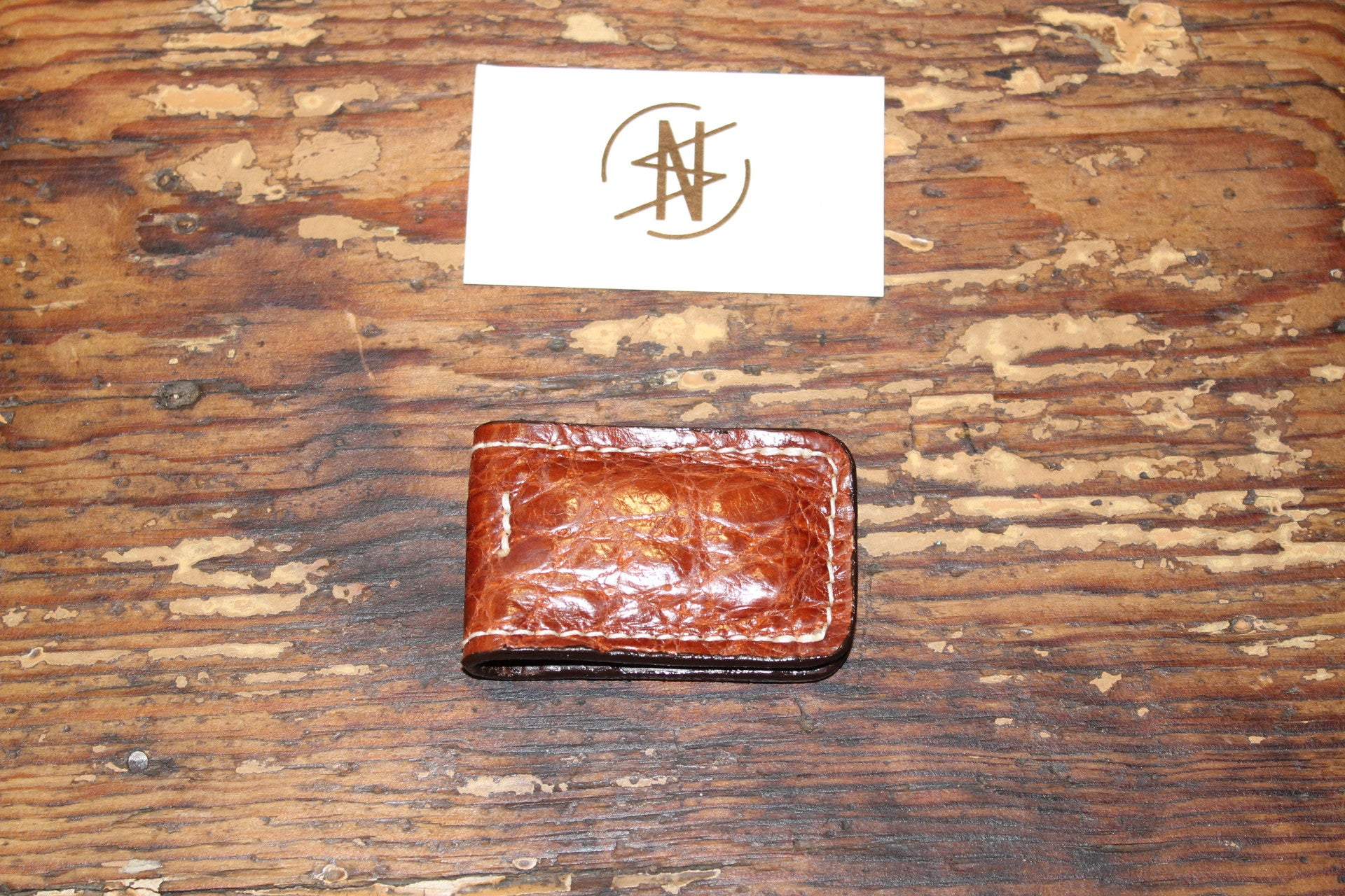 Native Sand- Alligator Money Clip