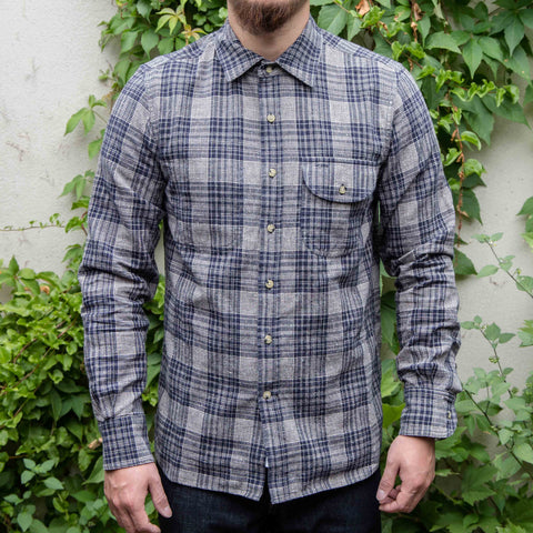 RGT-Jumper Shirt Long Sleeve // Indigo Neppy Plaid