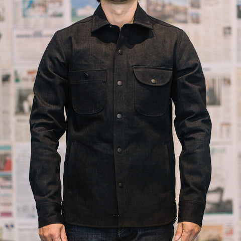 Rogue Territory - 15oz Denim Service Shirt in Stealth Black