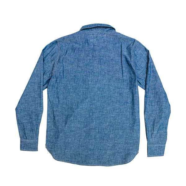 Rogue Territory -BM Work Shirt in Indigo Chambray