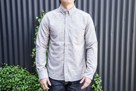 Rogue Territory - Oxford work shirt in Oatmeal flannel