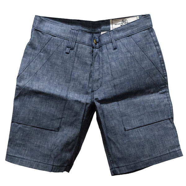 RGT- Safari Shorts// Indigo Dot Canvas