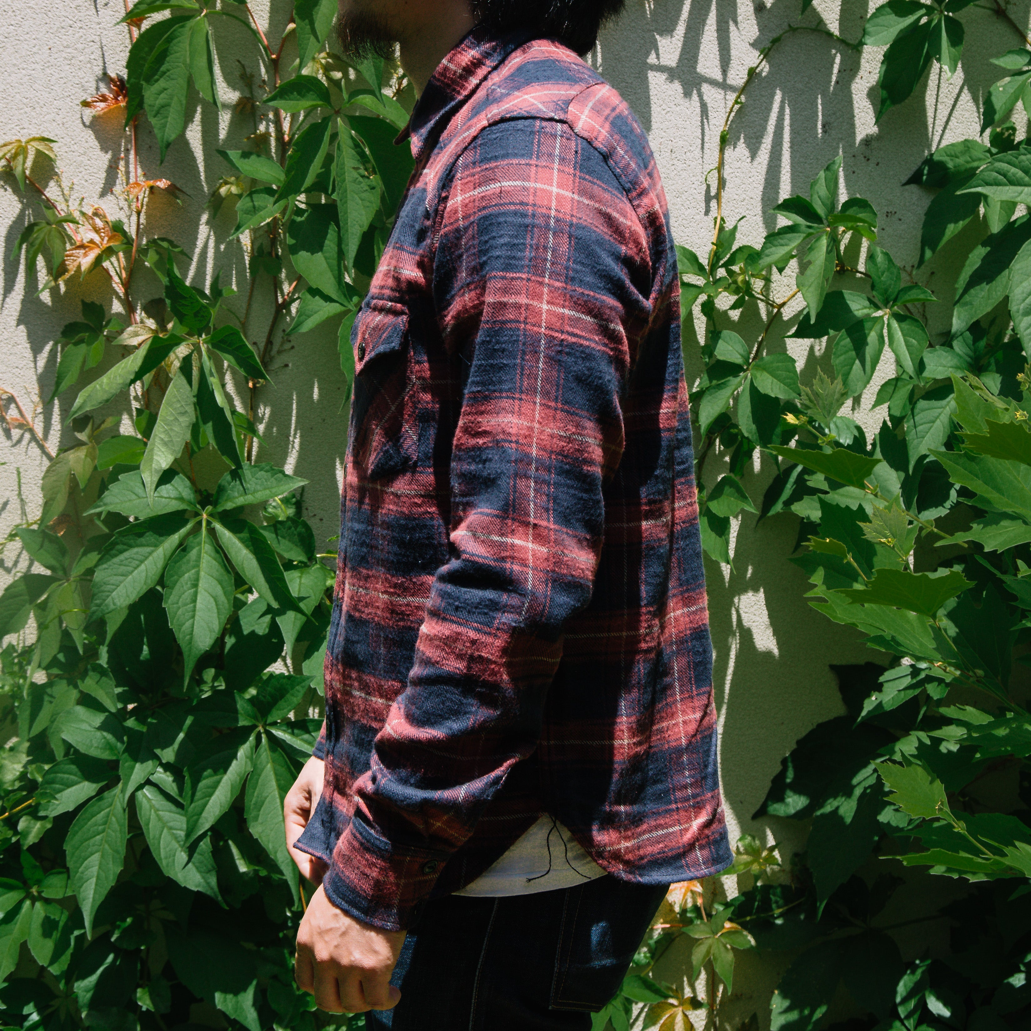 Load image into Gallery viewer, Rogue Territory -Western Shirt in Maroon Neppy Flannel