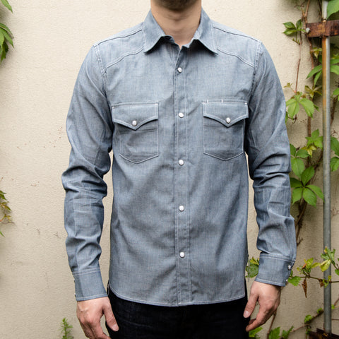 RGT-Western Shirt// Light Indigo
