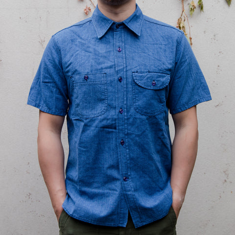 RGT-Work shirt Indigo Houndstooth