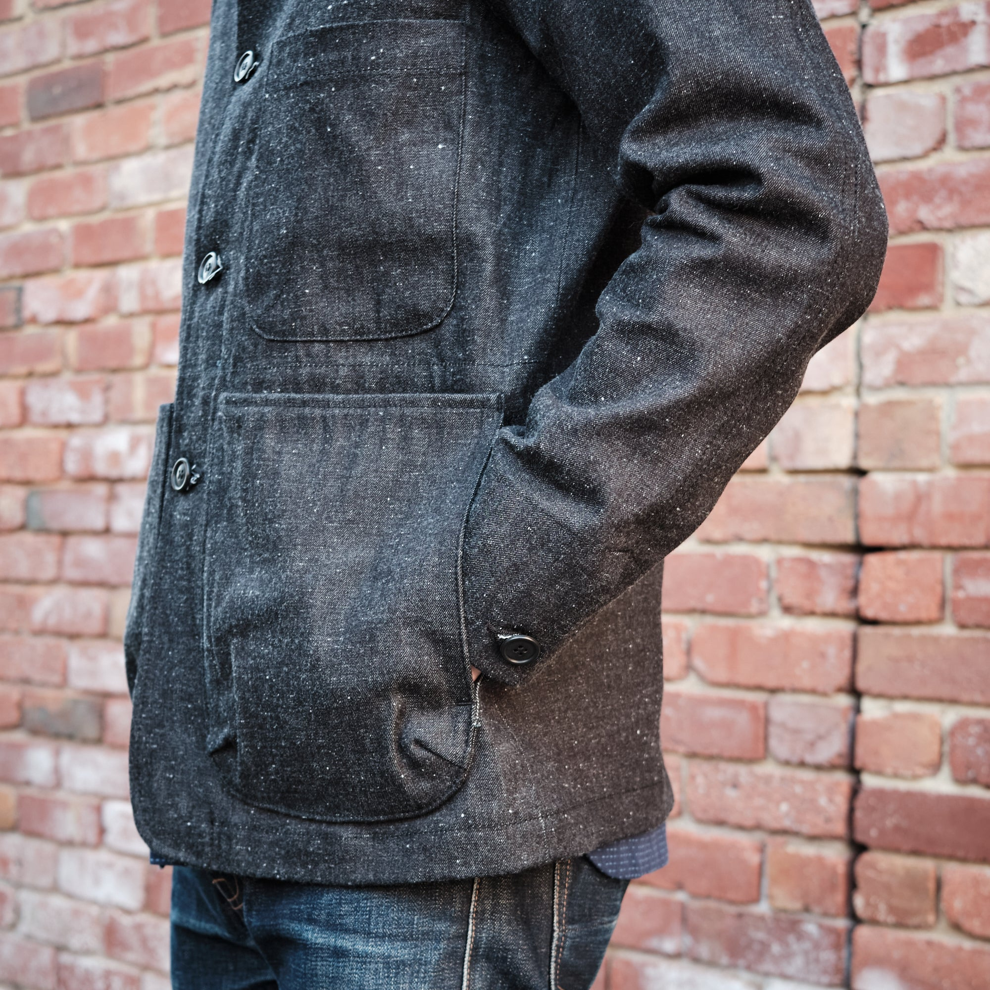 Load image into Gallery viewer, Rogue Territory - Explorer Blazer in Dark Neppy Denim