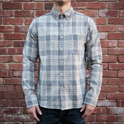 Rogue Territory -Jumper Shirt in linen blend plaid
