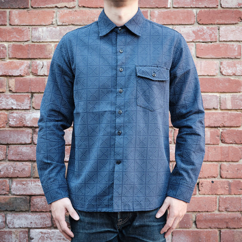 Rogue Territory - Oxford work shirt in navy sashiko