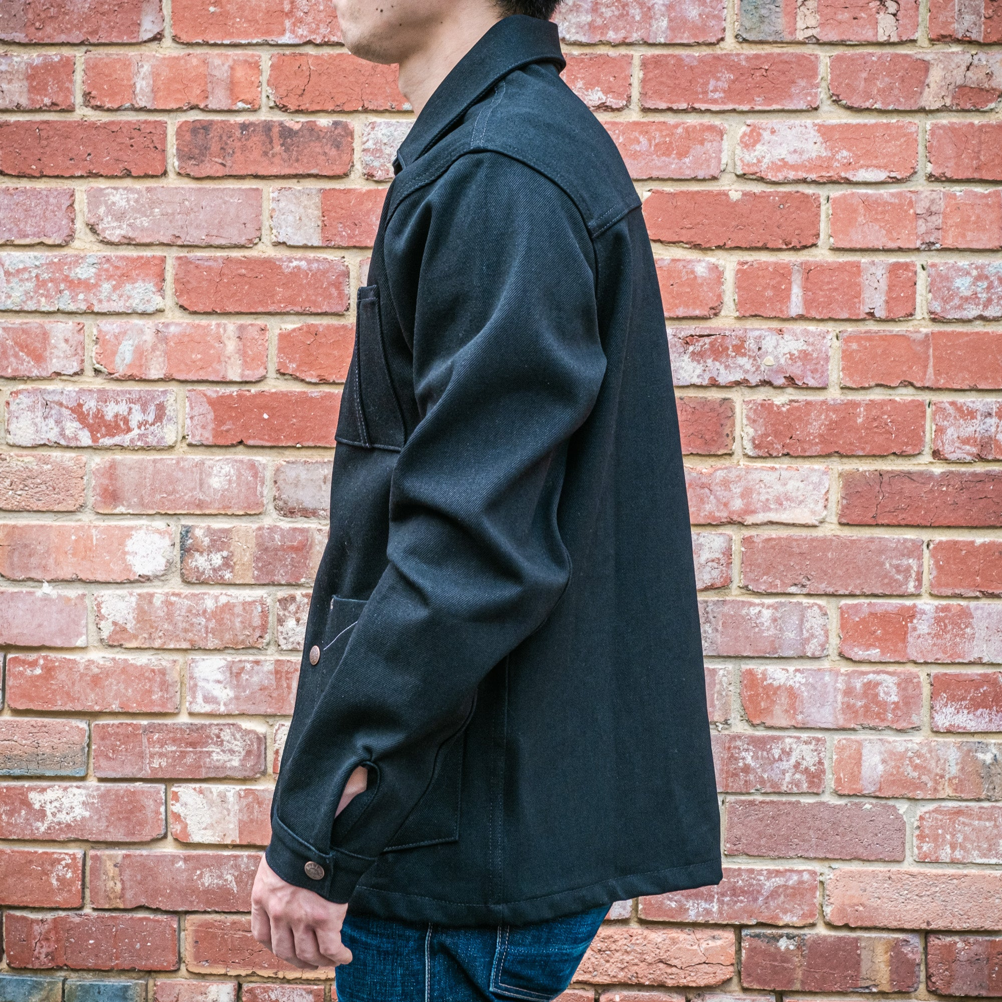 Load image into Gallery viewer, Railcar Fine Goods- Chore Coat- Double Black Denim