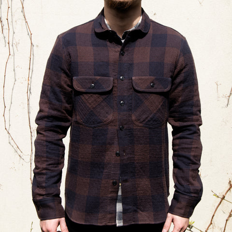 RGT-Rancher Shirt// Brown Quilted Plaid