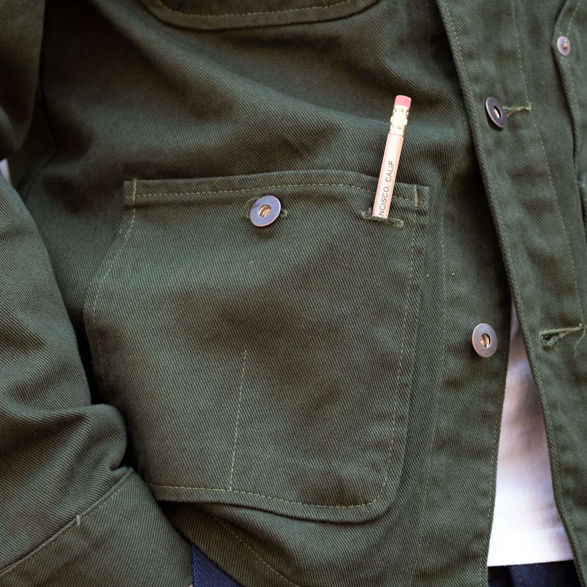 Load image into Gallery viewer, Tellason Coverall Jacket Garment Dyed in Green