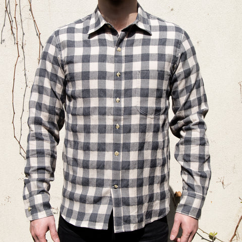 RGT- Traveler Shirt// Grey/Khaki Plaid