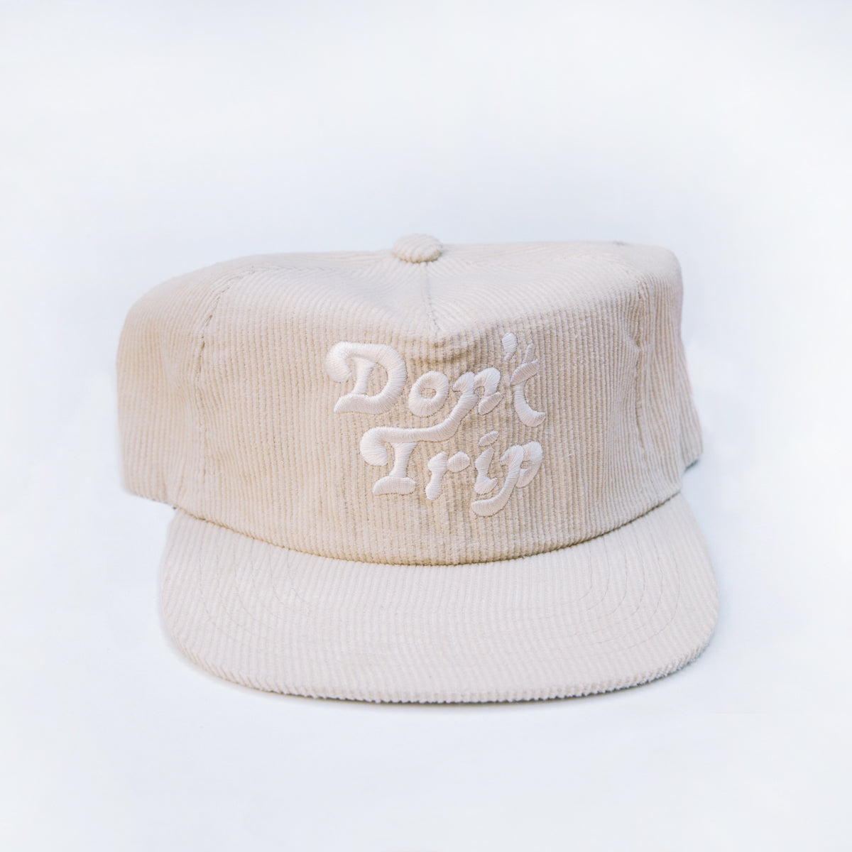 Free & Easy- Don't Trip Corduroy Hat in Cream