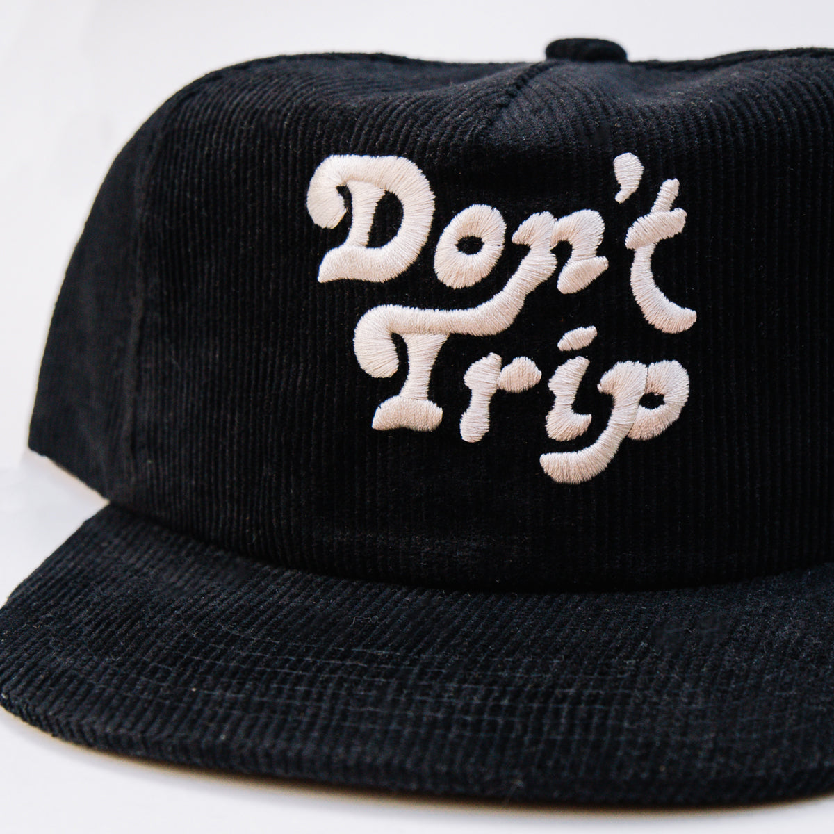 Load image into Gallery viewer, Free & Easy- Don't Trip Corduroy Hat in Black