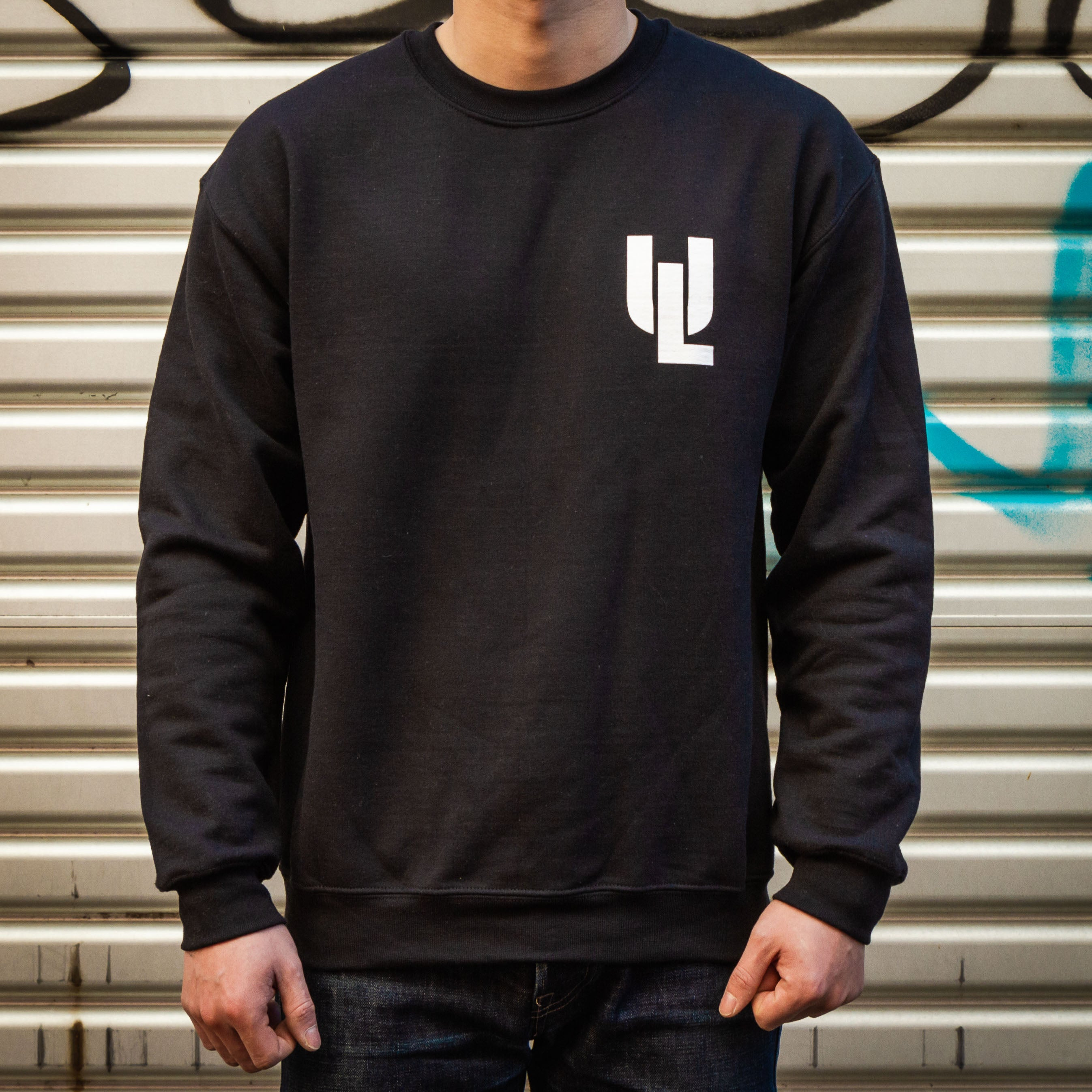 Load image into Gallery viewer, URBAN LUPE Store Sweatshirt in Black