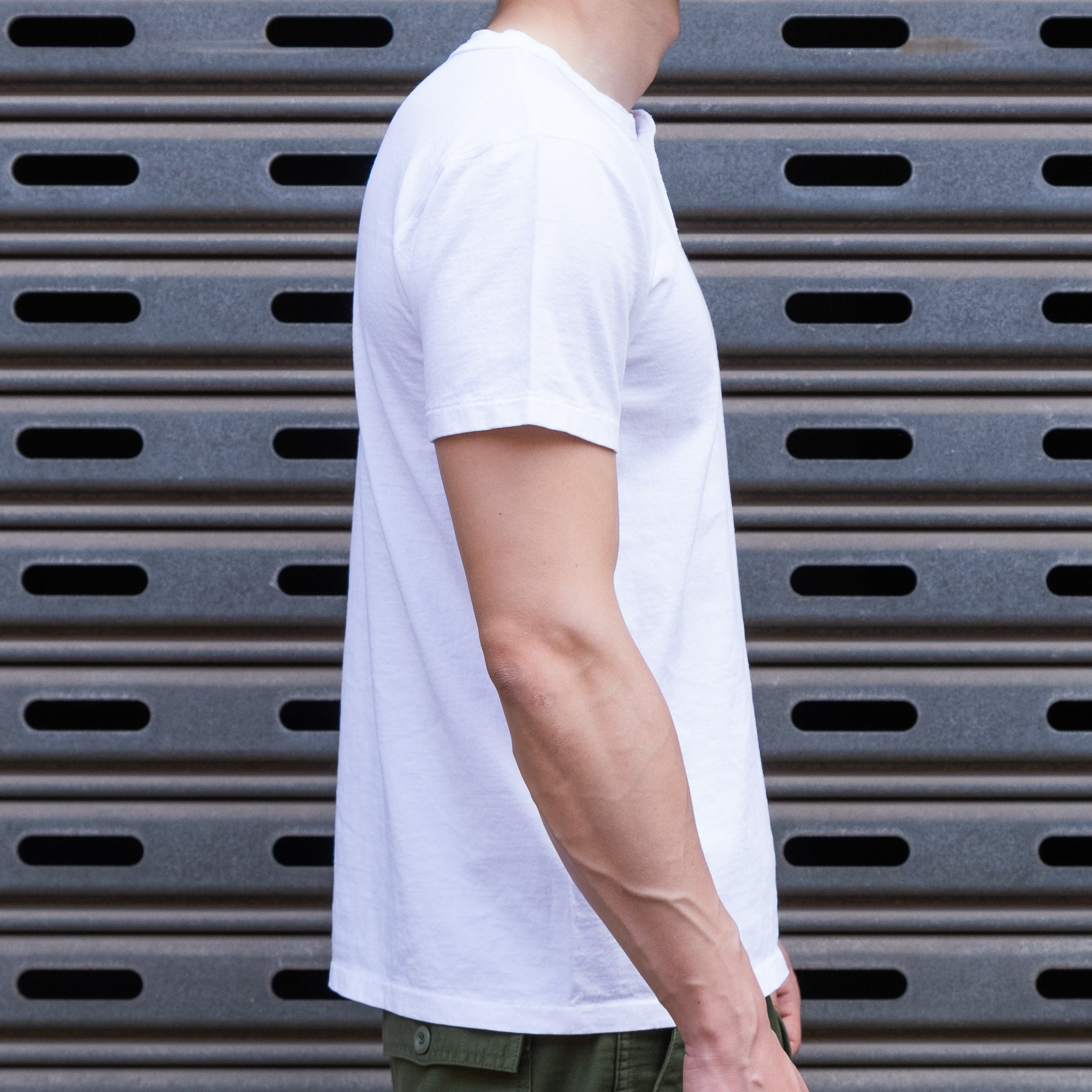 Load image into Gallery viewer, Velva Sheen - S/S Henley T-Shirt in White