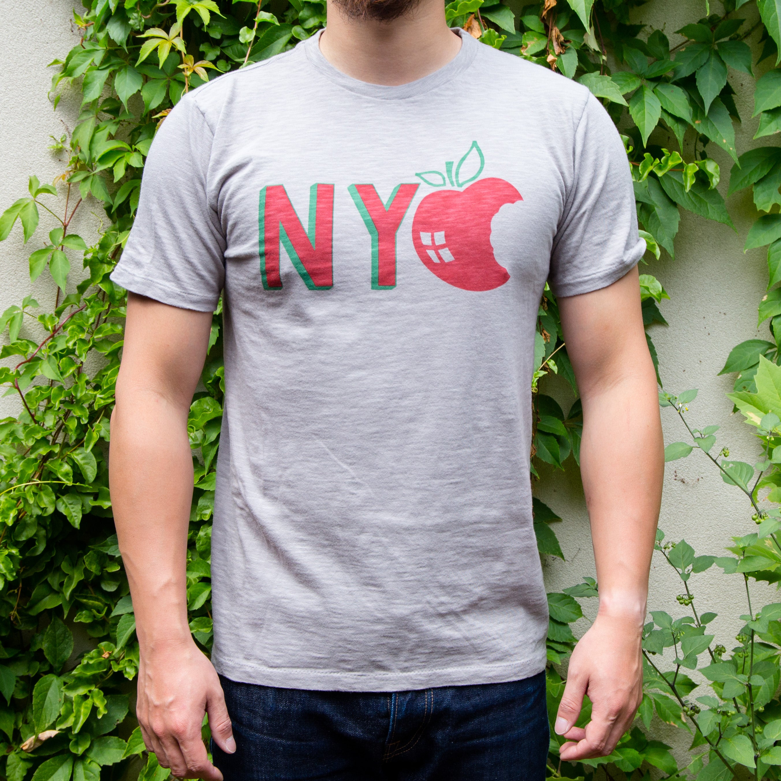 Load image into Gallery viewer, Velva Sheen - NYC crew neck S/S tee in Grey