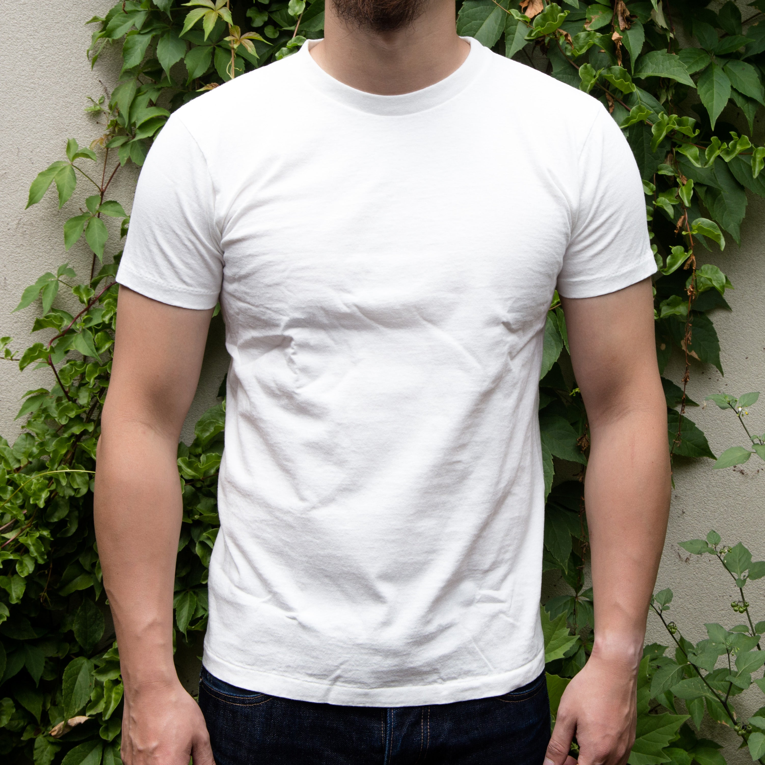 Load image into Gallery viewer, Velva Sheen - S/S Crew neck plain tee in White