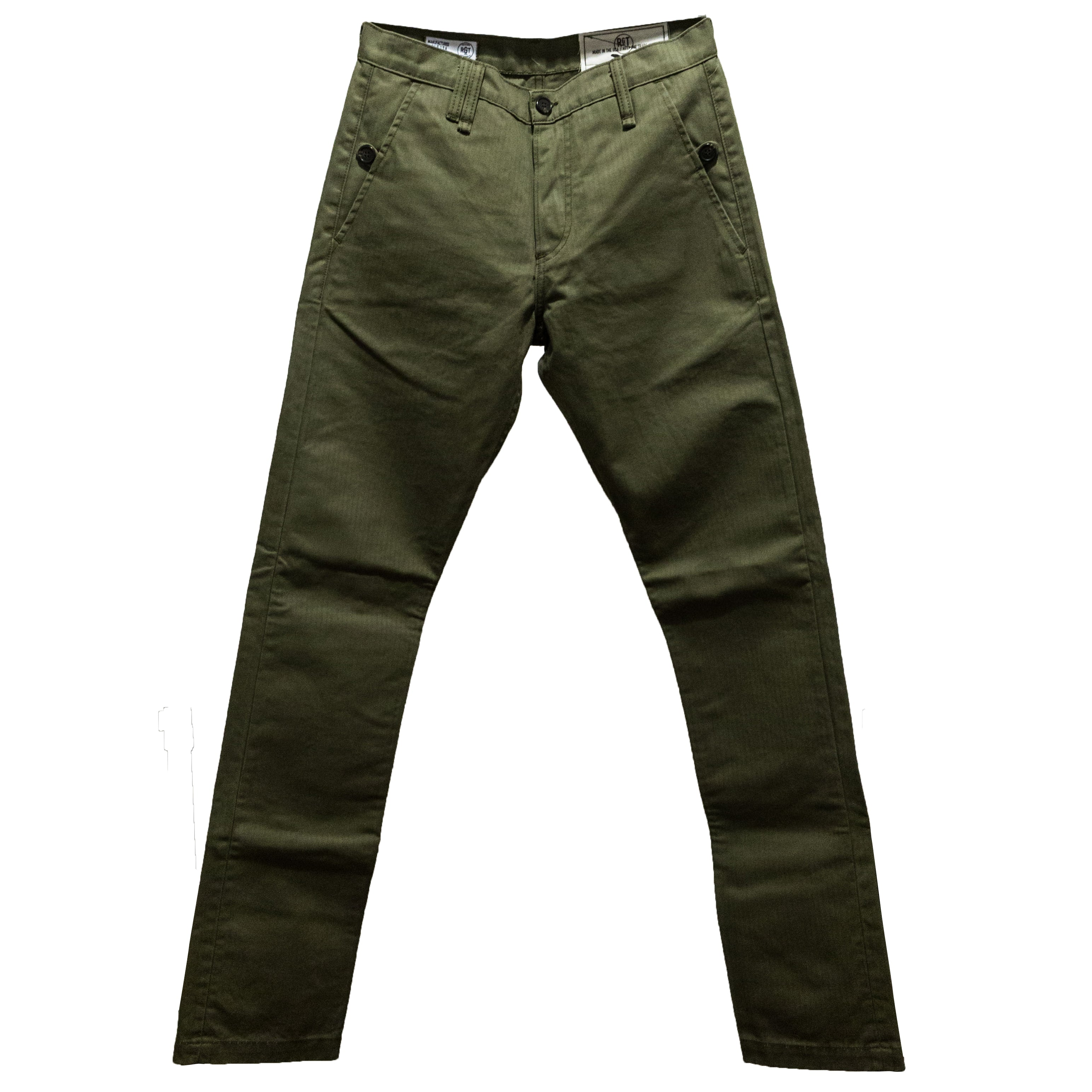 Load image into Gallery viewer, Rogue Territory -Work Trousers in Olive Herringbone