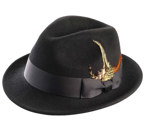 Men's Felt Bogart Hat By Montique H-11