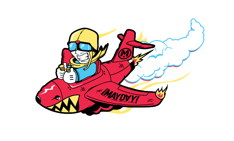 ¡MAYDAY! Plane Pin (Large)