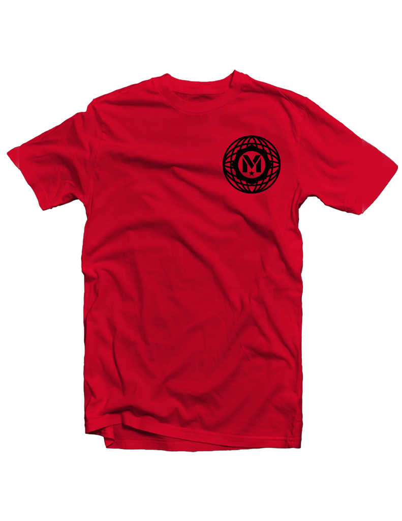 Red Mayday Globe Tee