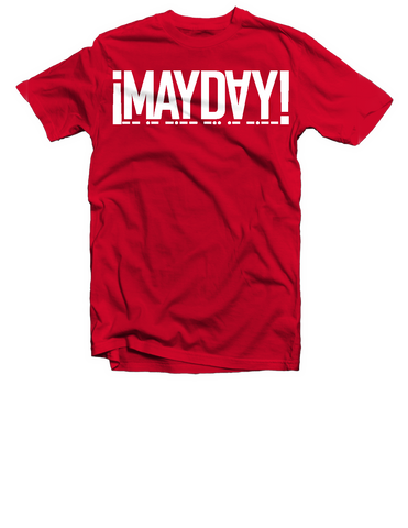 Red/White Mayday Logo Tee