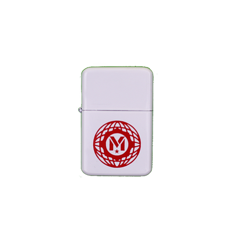 White Globe Logo Lighter