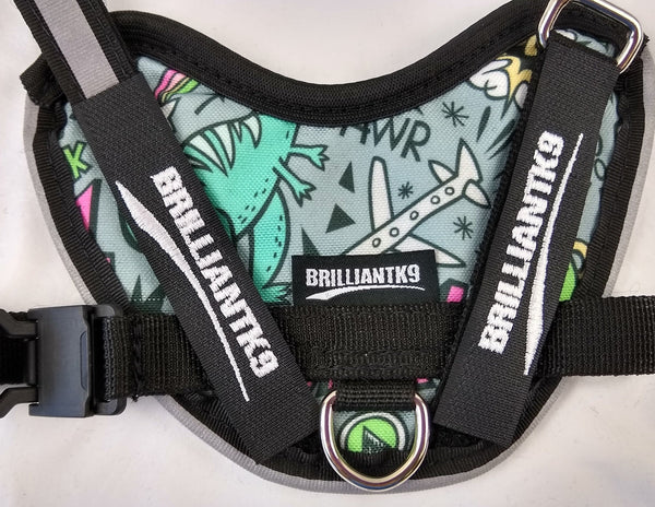 BrilliantK9 Ergonomic Dog Harness April Limited Comic Galaxy