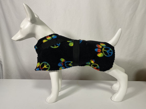 BrilliantK9 Fleece Coat Harness Small Dogs