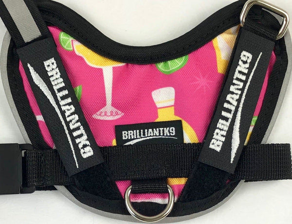 BrilliantK9 Ergonomic Dog Harness MAY Limited Margarita Madness