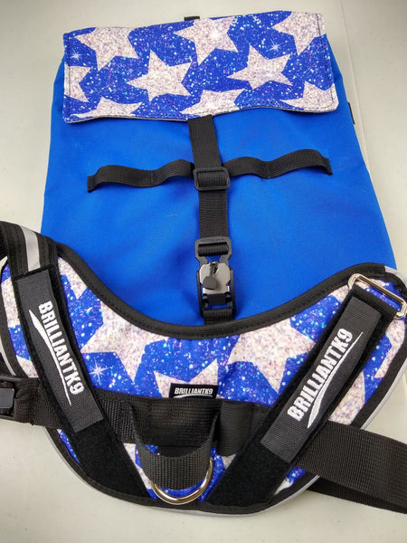 BrilliantK9 Custom Fabric Harness, Backpack Etc