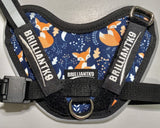 BrilliantK9 Ergonomic Dog Harness January Limited - Sleepy Foxes