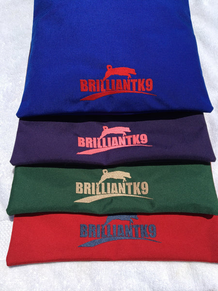 BrilliantK9 Crate Pad Cover 24 Inch Embroidered