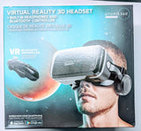Case Packed Virtual Reality 3D VR Headset with Built-In Headphones & Remote, Black
