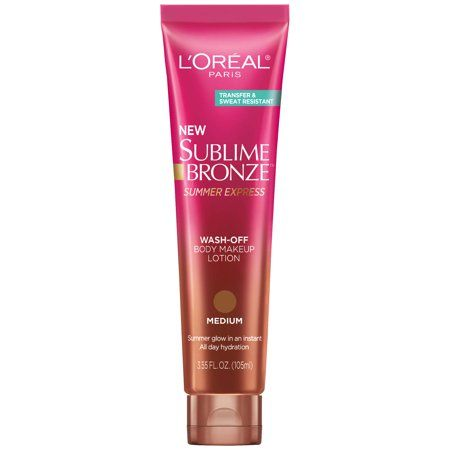 Case Packed -L'Oréal Paris Sublime Bronze Summer Express Wash-Off Body Makeup Lotion 3.78 fl oz