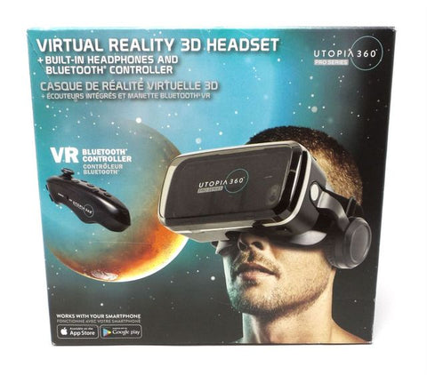 New VR Virtual Reality 3D Headset Bundle Pro Series Bundle Headphones and remote included