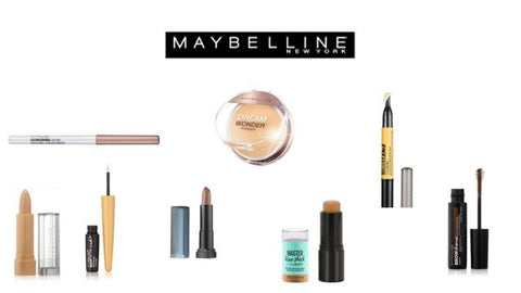Maybelline Cosmetics Massive Liquidation Lot of 1,000 Units- Foundation, Lipstick, Concealer, Eyeliner - NEW