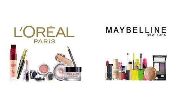 Mixed Cosmetics Variety by L'Oreal & Maybelline Foundation, Lipstick, Eyeshadow, Mascara